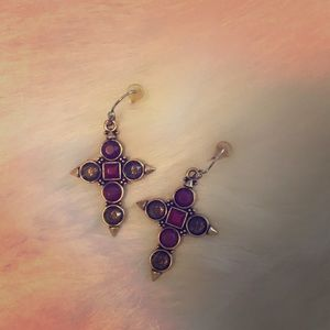 Lucky brand cross earrings